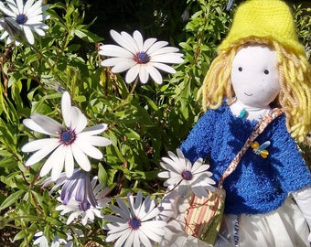 Handmade rag doll.  Dolls Pilucas