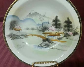Rare vintage Kutani porcelain china soup or salad bowls. Hand painted. 3 available