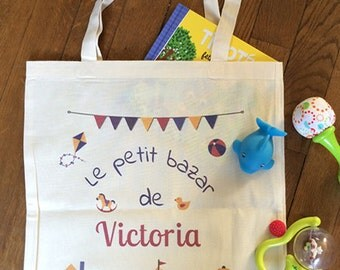 Tote bag personalized name