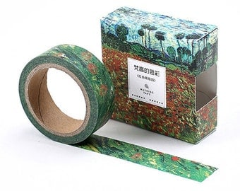 Van Gogh Inspired Fields of Poppies Washi Masking Tape