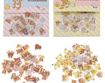 Rilakkuma stickers seal flakes cute kawaii bears
