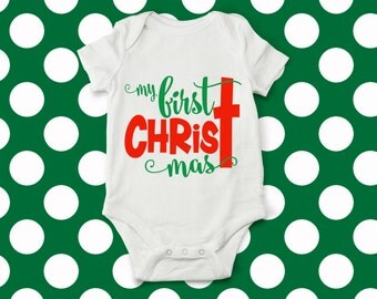 My First ChrisTmas svg, christmas svg, Merry chrisTmas svg, 1st chrisTmas svg, christmas onesie, Baby's first christmas svg, cricut, dxf