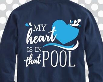 My heart is in that pool svg, swim svg, Swimming SVG, Swimmer, Swim, cricut file, silhouette file,  swimming ideas, Swim Team Tee,Swim shirt