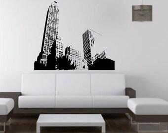 City Landscape Skyscrapers wall vinyl or sticker