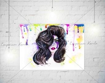 Watercolor - Painting - Digital - Handmade