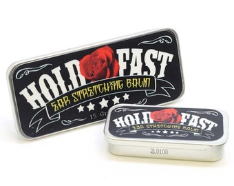 Organic Hold Fast Ear Stretching Balm-15 oz-Ear Gauge Balm-Helps Stretch-Conditions-Heals-Promotes Healthy Lobes-Stretch-Paraben Free-USA