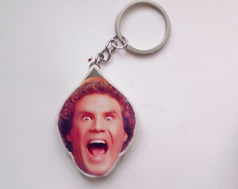 buddy the elf keychain, elf the movie - christmas, christmas keychain, will ferrell keychain