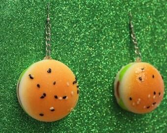 Small Burger Earrings