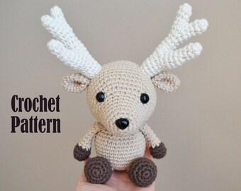 Crochet Amigurumi Pattern: Charles the Deer, Stuffed Toy, Plush, Stuffed Animal