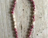 Beaded necklace made from upcycled Indian sari necklace