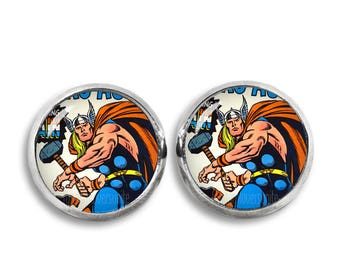 Thor Earrings Thor Stud Earrings Thor Comic 12mm Fandom Jewelry Geeky Cosplay Fangirl Fanboy