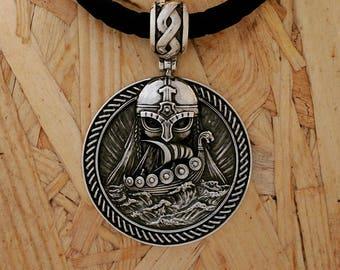 Viking Norse Neckace, Odins Pendant Sterling silver