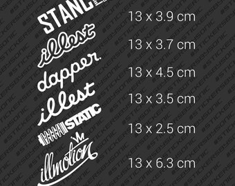 Stance jdm car sticker - Illest Dapper Static decal vinyl