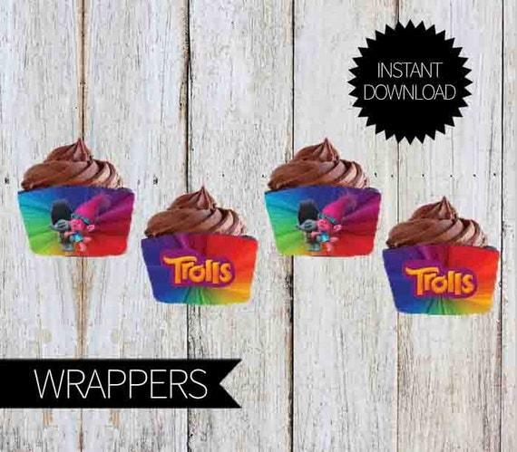 Trolls Cupcake Labels
