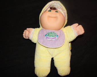 Vintage Cabbage Patch Kids Babyland Doll Brown Hair Green Eyes1989