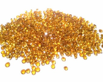100pcs Lot 3mm CITRINE Round FACETED Gemstone, Calibrated Size Gems
