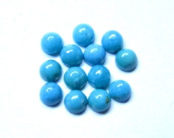 10 Pieces 3mm Turquoise Cabochon Round Gemstone - Sleeping Beauty Arizona TURQUOISE Round Cabochon - AAA Quality Smooth polished Cabochon