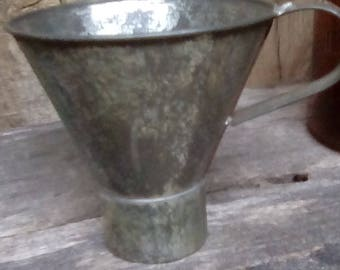 Funnel Farmhouse Kitchen Utensil Handmade Metal Funnel Country Kitchen Canning Vintage  Funnel Jar Funnel