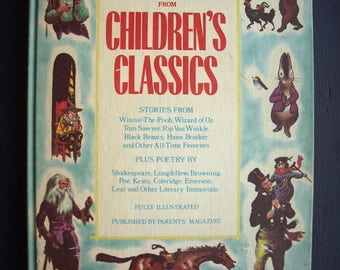 Best Loved Selections From Children's Classics Book 1975 Edition – Large Format Collection of Children's Stories / Books
