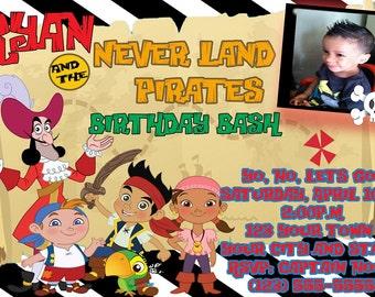 Jake and The Neverland Pirates Invitation