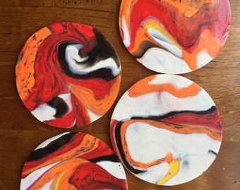 Graffiti Heart set of 4 coasters