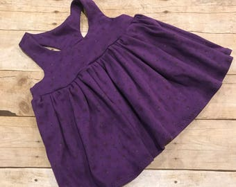 Soft Purple Flower  Racerback Knit Top, Twirly, Summer Staple