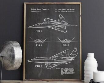 F23 Airplane Print, F23 Plane Print, F23 Plane Poster, F23 Airplane Poster, F23 Patent Poster, F23 Fighter Decor, YF23 Art, INSTANT DOWNLOAD
