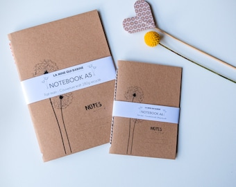 Notebook book recycled kraft dandelion