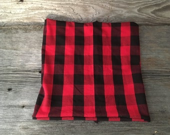 scarf neck warmer scarf red and black lumberjack aerified infinite