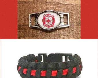 Firefighters Paracord Bracelet, Thin Red Line Paracord Bracelet, First Responders Paracord Bracelet, Paracord Bracelet, Paracord