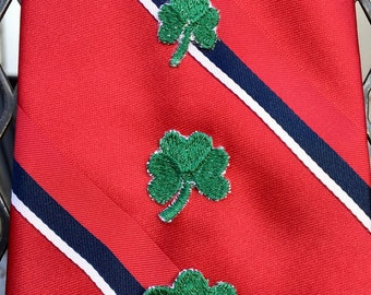 Embroidered Shamrock Pins and Tie Tacks