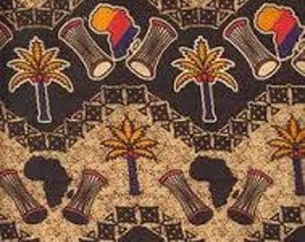 African Las Vegas Fabric