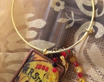 Red and Yellow Garden Desire Expandable Bangle