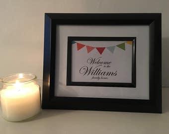 Family home, home decor, new home gift print