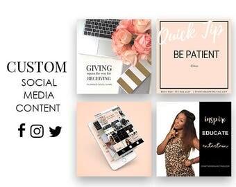 10 Custom Branded Content Pieces   Social Media   Branding Design