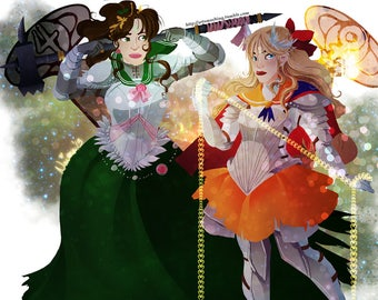 Pretty Soldier Sailor jupiter and venus Print