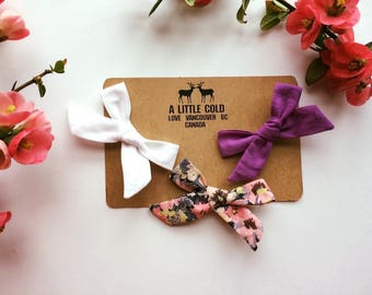 Gorgeous bows on alligator clips.