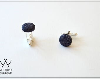 """Cufflinks, """"Genoa"""", handmade, Woodiny brand, french design, gift for men, father's day, grooms gift, groomsmen, wooden gift"""