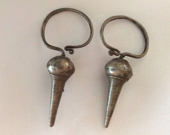 Antique Spindle Ethnic Earrings Hilltribe