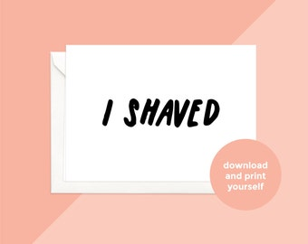 printable download | i shaved card