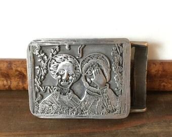 Vintage Cast Metal Belt Buckle