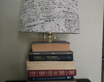 Upcycled Book Lamp
