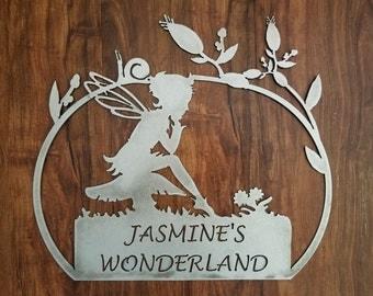 Fairy Garden Customizable Metal Art