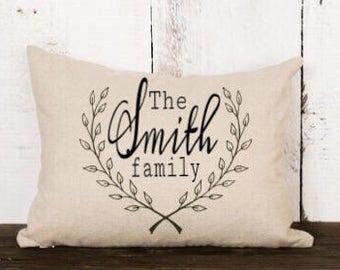 Family Name pillow / pillow cover / throw pillow / derative pillow