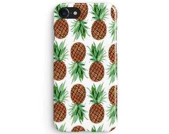 Watercolor pineapple pattern - iPhone 7 case, Samsung Galaxy S7 case, iPhone 6, iPhone 7 plus, iPhone SE, iPhone 5S, 1C055B