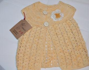 2 - 3 Years Old Girls' Yellow Cardigan