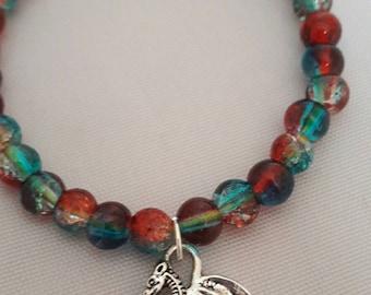 Beaded Dragon Bracelet- The Dragon Collection, fantasy, myth, gothic.