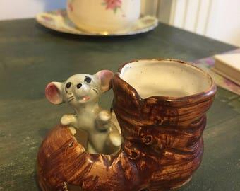 Vintage pot mouse ornament