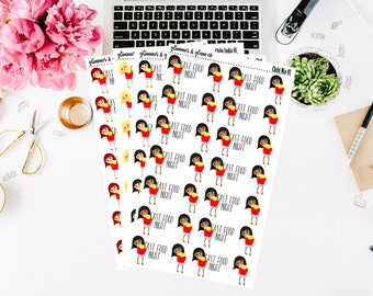 Chibi Girl -  Fast Food Night Planner stickers