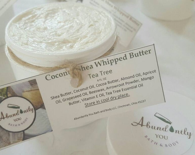 Tea Tree and Coconut Shea Whipped Body Butter 4 oz Free local Pickup Only Cincinnati Ohio